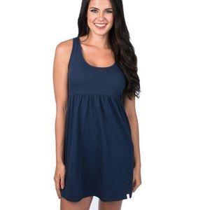 🆕 NWOT Medium Lauren James Navy Blue Dress